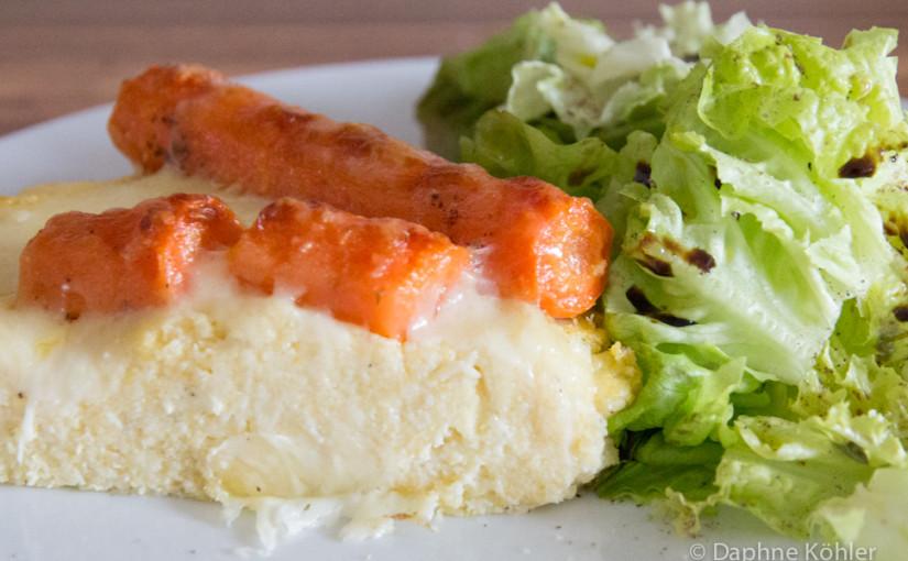 Möhrentarte mit singulärem Salat